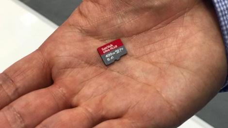 נשבר השיא: כרטיס זיכרון SD עם 400 GB