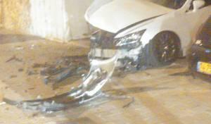 הרכב לאחר הפיצוץ