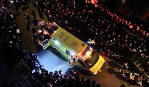 זירת האסון בלוויה