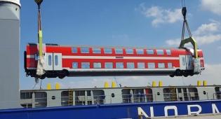 קרונות חדשים הגיעו לרכבת ישראל • צפו