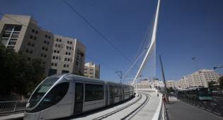 הרכבת הקלה. ארכיון - שביתה כללית ברכבת הקלה בירושלים