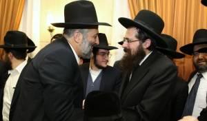 אריה דרעי וראש ישיבת מיר הרב אליעזר יהודה פינקל
