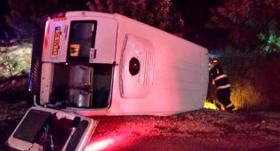 המיניבוס ההפוך - חזרו מחתונה ונפצעו קל בתאונה