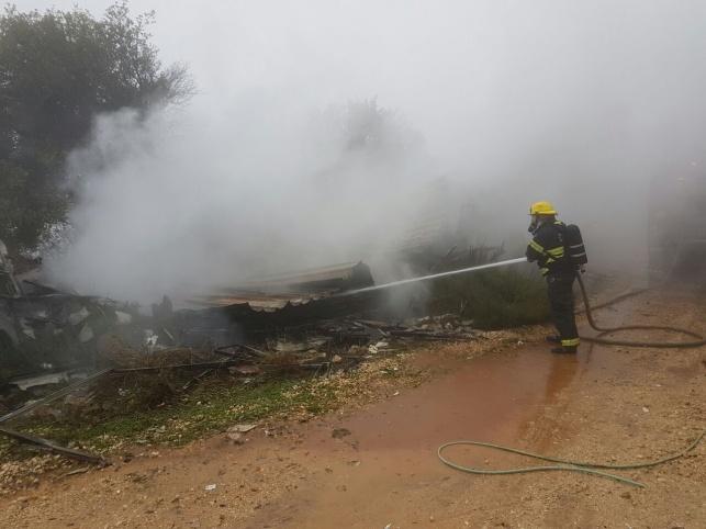 הרוג בשריפה בקראוון ביישוב אמירים בצפון