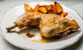 עוף ובטטות בתנור