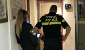 שוטרים בפעולת אכיפה בתלמוד תורה