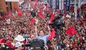 סלבדור נסראללה חוגג עם תומכיו