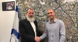 """מנכ""""ל פנגו עם סגן ראש עיריית ירושלים. - הסרת המדחנים בירושלים: שיתוף פעולה עם פנגו"""
