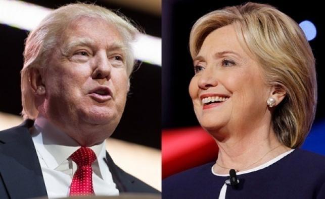 טראמפ מצליח להשתוות בסקרים לקלינטון