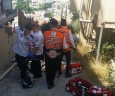 תיעוד מזירת האירוע - אדם נהרג לאחר שנפל מגובה ארבע קומות
