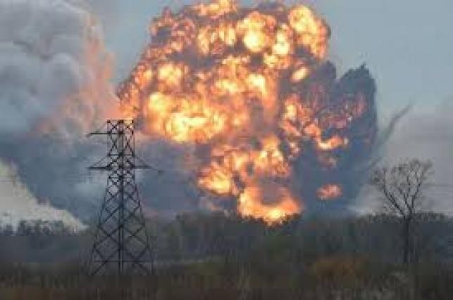 מחסן התחמושת הגדול באוקראינה התפוצץ