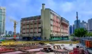 """צפו: הבניין הישן """"הולך"""" לו למיקום החלופי"""
