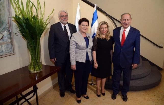 נתניהו וראשת ממשלת פולין