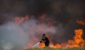 שריפת הענק ליד מכללת ספיר
