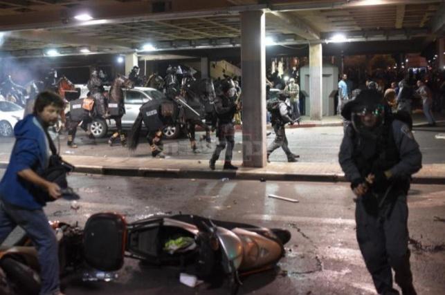 במשטרה יחקרו מי הלהיט ההפגנה