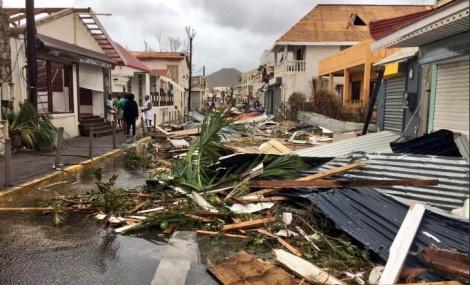ההרס באי סנט מרטין