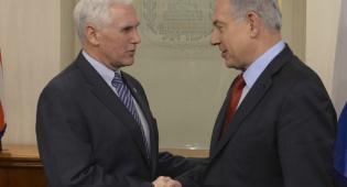 פנס ונתניהו בפגישתם הקודמת - בחנוכה: סגן הנשיא מייק פנס יבקר בישראל