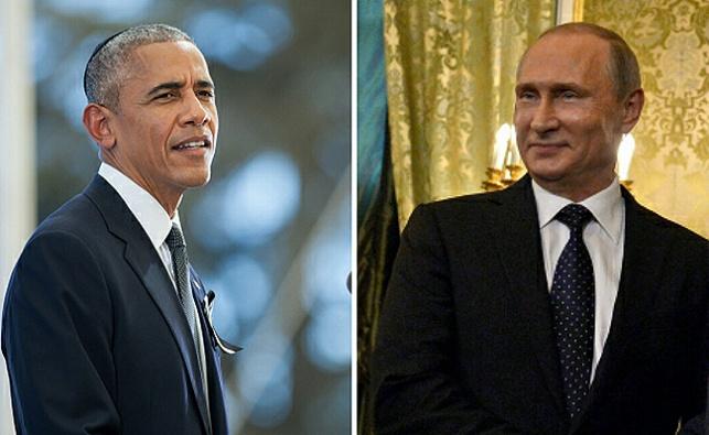 """נשיא רוסיה פוטין ונשיא ארה""""ב אובמה"""