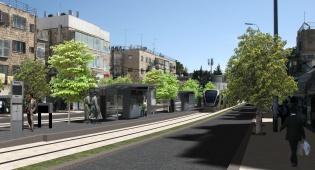 צומת בר אילן - ה'קו הירוק' של הרכבת הקלה בירושלים אושר