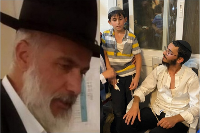 """הרב אריאל צדיק ז""""ל, לצד ילדיו שיבל""""א היושבים שבעה"""