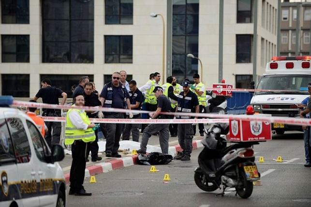 זירת פיגוע אמיתית, היום בתל אביב