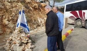 נתניהו קרא פרק תהילים בזירת פיגוע הירי