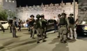 הערב סמוך לשער שכם בירושלים