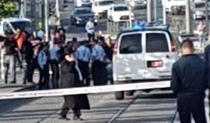 זירת האירוע - רכבו של הערבי פרץ למסלול הרכבת. צפו