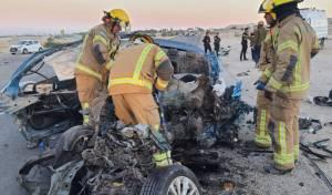 חרדי נהרג בכביש 90: 'הרכב היה קרוע והנהג נלכד בתוכו'