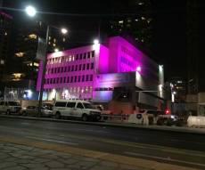 השגרירות בבניינה בתל אביב - כחלון אישר חריגה לבניית חומה לשגרירות
