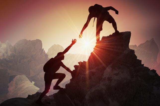 תלמד להוביל לפסגה. אילוסטרציה