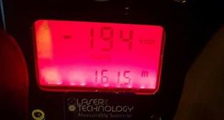 """מד המהירות - תלמיד ישיבה נתפס """"טס"""" על 194 קמ""""ש"""
