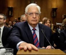 """פרידמן, בעת השימוע בסנאט - אושר: דייויד פרידמן - שגריר ארה""""ב בישראל"""