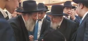 """הגרב""""מ אזרחי עם הרב אברהם רובינשטיין מזכיר מועצת גדולי התורה וראש עיריית בני ברק"""