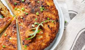 פשטידת פתיתים עם גבינות ותרד