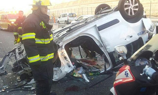 משפחה חרדית נפצעה בתאונה