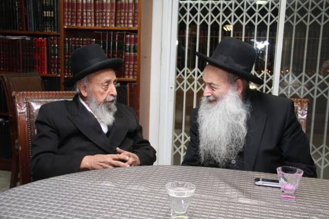 הגאון רבי משה מאיה עם הגאון רבי שמעון בעדני