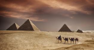 הפירמידות במצרים. אילוסטרציה