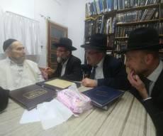 """מרן עם הח""""כים בביתו, הערב - מרן הגראי""""ל שטיינמן: לתמוך בחוק ירושלים"""