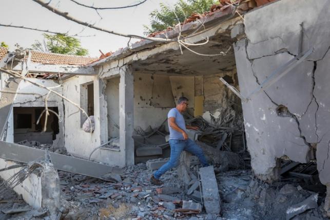 הבית שנפגע באשקלון