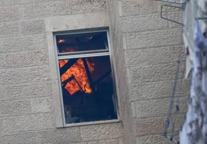 האש בבניין
