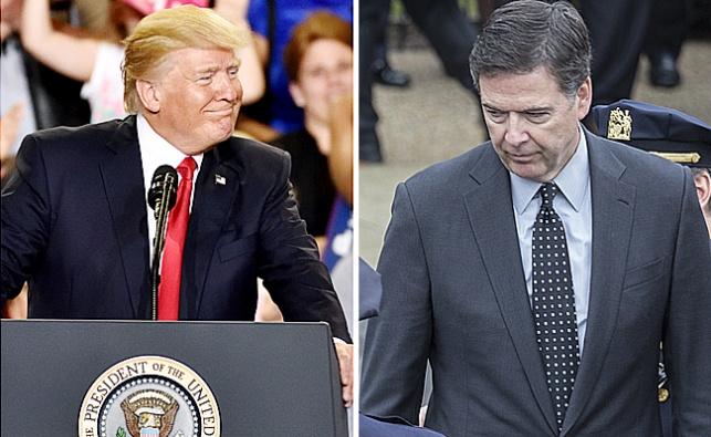 טראמפ וראש ה-FBI המודח קומי