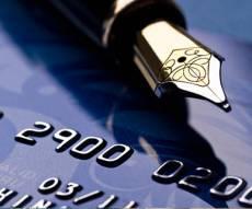 עט יוקרתי - וברקע כרטיס אשראי