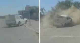 במהלך מרדף: השתולל בכביש עד להתנגשות