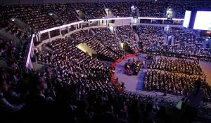 כינוס תלמידות ב'ארנה'. אילוסטרציה - הבוקר: כינוס אלפי הבנות נגד האקדמיה