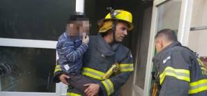 כוחות הצלה בזירת השריפה