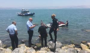 זירת הטביעה - אגם מסוכן: עוד צעיר טבע למוות במי הכנרת