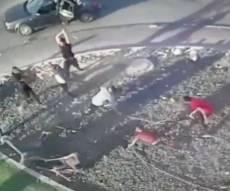 צפו: הקטטה המשפחתית האלימה ברהט