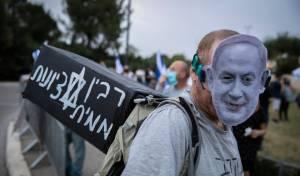 הסתה נגד נתניהו בהפגנת השמאל בשבוע שעבר