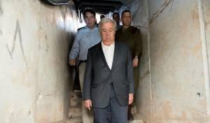 גוטרש במנהרה - גוטרש: אמשיך להתנגד להתנחלויות ולטרור
